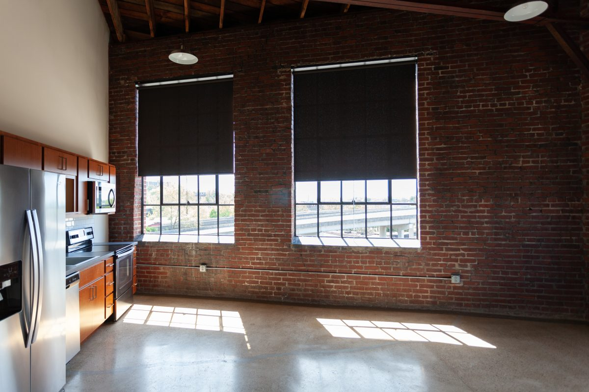 Large windows in Keener Building