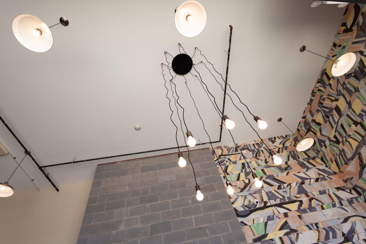 Lighting in Keener Building lobby