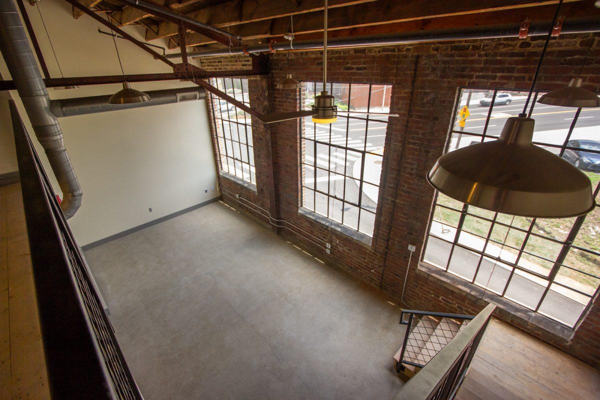 Large windows in Keener building apartment